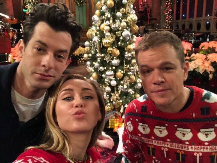 Mark-Ronson-Miley-Cyrus-Matt-Damon-SNL-12-11-18-Promo